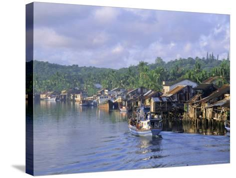 Fishing Trawlers in the Harbour, Phu Quoc Island, Southwest Vietnam, Indochina, Southeast Asia-Tim Hall-Stretched Canvas Print