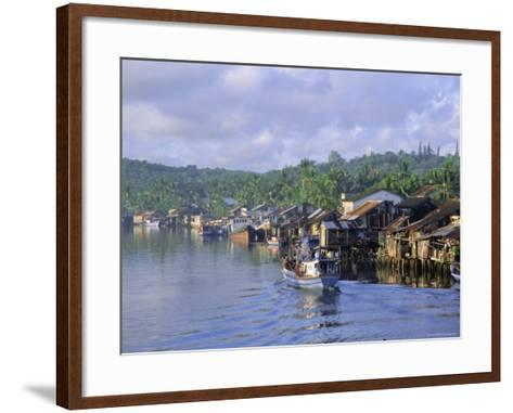 Fishing Trawlers in the Harbour, Phu Quoc Island, Southwest Vietnam, Indochina, Southeast Asia-Tim Hall-Framed Art Print