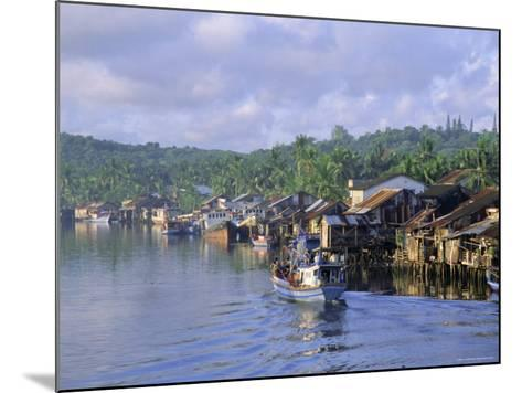 Fishing Trawlers in the Harbour, Phu Quoc Island, Southwest Vietnam, Indochina, Southeast Asia-Tim Hall-Mounted Photographic Print