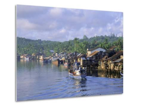 Fishing Trawlers in the Harbour, Phu Quoc Island, Southwest Vietnam, Indochina, Southeast Asia-Tim Hall-Metal Print