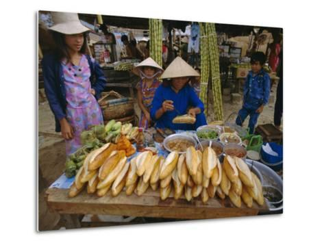 Sandwiches on French Bread, Nha Trang, Vietnam, Indochina, Southeast Asia, Asia-Tim Hall-Metal Print