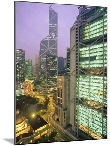 Central from Princes Building, Legco Bank of China, Hk Bank, Hong Kong, China, Asia-Tim Hall-Mounted Photographic Print
