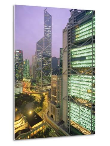 Central from Princes Building, Legco Bank of China, Hk Bank, Hong Kong, China, Asia-Tim Hall-Metal Print