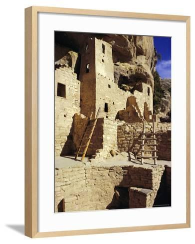 Cliff Palace, Mesa Verde, Anasazi Culture, Colorado, USA-Walter Rawlings-Framed Art Print