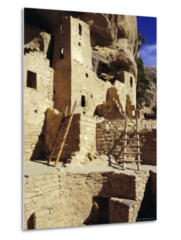 Cliff Palace, Mesa Verde, Anasazi Culture, Colorado, USA-Walter Rawlings-Metal Print