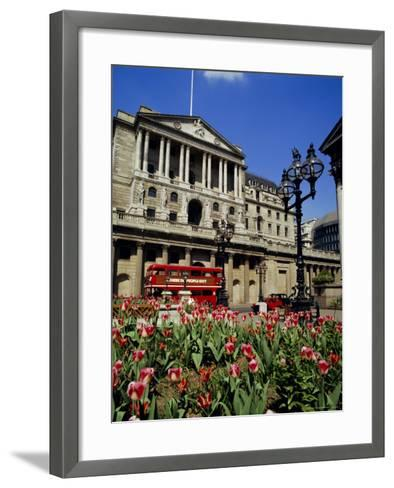 The Bank of England, Threadneedle Street, City of London, England, UK-Walter Rawlings-Framed Art Print