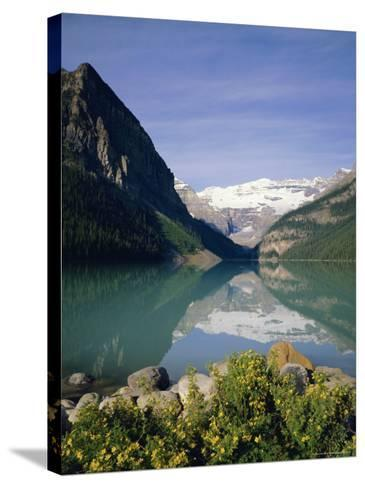 Lake Louise, Banff National Park, Rocky Mountains, Alberta, Canada-Geoff Renner-Stretched Canvas Print