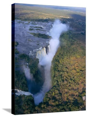 Aerial View of Victoria Falls, Zimbabwe-Geoff Renner-Stretched Canvas Print
