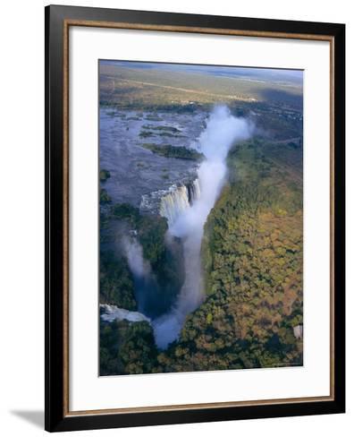 Aerial View of Victoria Falls, Zimbabwe-Geoff Renner-Framed Art Print