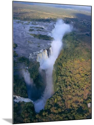 Aerial View of Victoria Falls, Zimbabwe-Geoff Renner-Mounted Photographic Print
