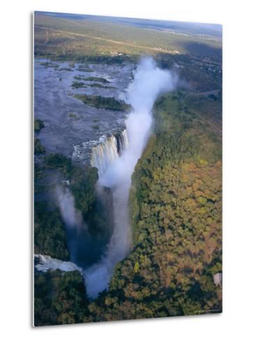 Aerial View of Victoria Falls, Zimbabwe-Geoff Renner-Metal Print