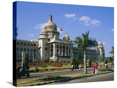State Legislature & Secretariat Building, Bangalore, Karnataka State, India-Jenny Pate-Stretched Canvas Print