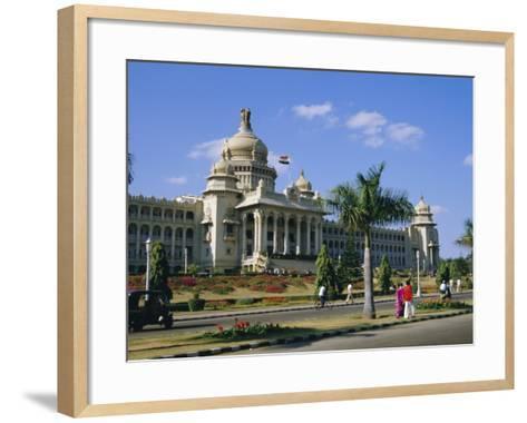 State Legislature & Secretariat Building, Bangalore, Karnataka State, India-Jenny Pate-Framed Art Print