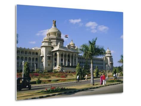 State Legislature & Secretariat Building, Bangalore, Karnataka State, India-Jenny Pate-Metal Print