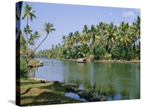 The Backwaters at Chavara, Kerala State, India, Asia-Jenny Pate-Stretched Canvas Print