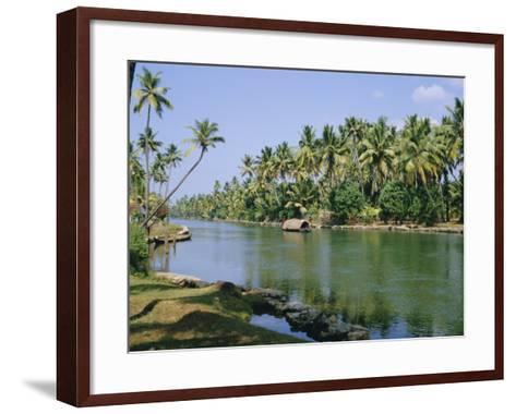 The Backwaters at Chavara, Kerala State, India, Asia-Jenny Pate-Framed Art Print