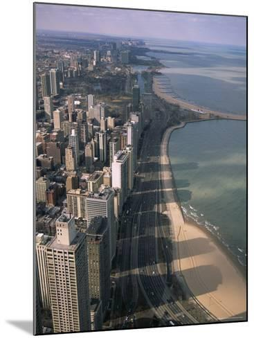 View North Along Shore of Lake Michigan from John Hancock Center, Chicago, Illinois, USA-Jenny Pate-Mounted Photographic Print