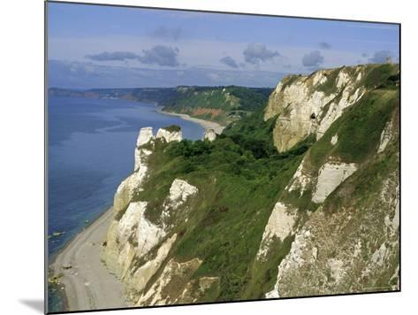 Hoskon Landslip, Beer Head, from Coastal Path, East Devon, England, UK-Michael Black-Mounted Photographic Print