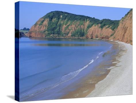 Jacob's Ladder Beach, Sidmouth, Devon, England, UK-Michael Black-Stretched Canvas Print