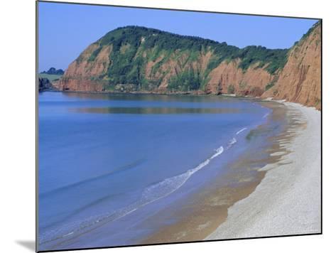 Jacob's Ladder Beach, Sidmouth, Devon, England, UK-Michael Black-Mounted Photographic Print