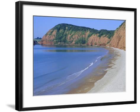 Jacob's Ladder Beach, Sidmouth, Devon, England, UK-Michael Black-Framed Art Print