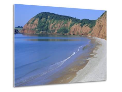 Jacob's Ladder Beach, Sidmouth, Devon, England, UK-Michael Black-Metal Print