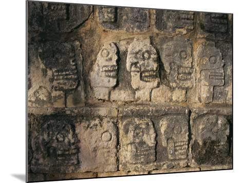 Detail, Mayan Ruins, Chichen Itza, Unesco World Heritage Site, Yucatan, Mexico, Central America-Gavin Hellier-Mounted Photographic Print