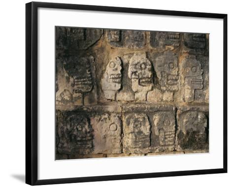Detail, Mayan Ruins, Chichen Itza, Unesco World Heritage Site, Yucatan, Mexico, Central America-Gavin Hellier-Framed Art Print