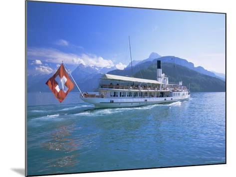 Tourist Boat Crossing the Lake, Lake Geneva (Lac Leman), Switzerland, Europe-Gavin Hellier-Mounted Photographic Print