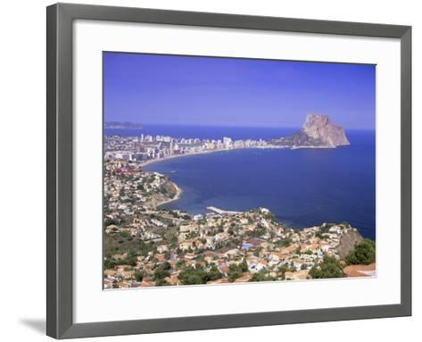 Giant Sea Rock, Penon De Ifach, Calpe, Costa Blanca, Valencia, Spain, Europe-Gavin Hellier-Framed Art Print