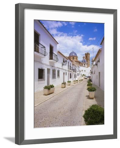 Church and Street in Altea, Valencia, Spain, Europe-Gavin Hellier-Framed Art Print