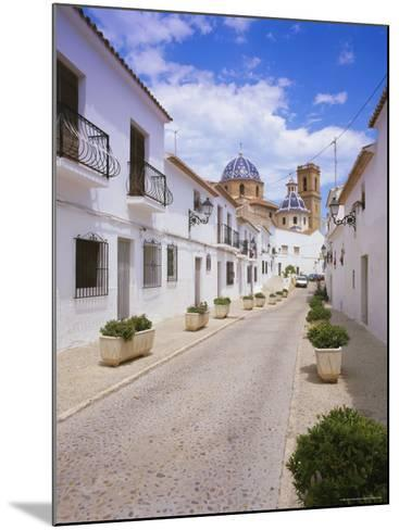 Church and Street in Altea, Valencia, Spain, Europe-Gavin Hellier-Mounted Photographic Print