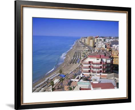 View Over the Seafront and Beach, Fuengirola, Costa Del Sol, Andalucia (Andalusia), Spain, Europe-Gavin Hellier-Framed Art Print