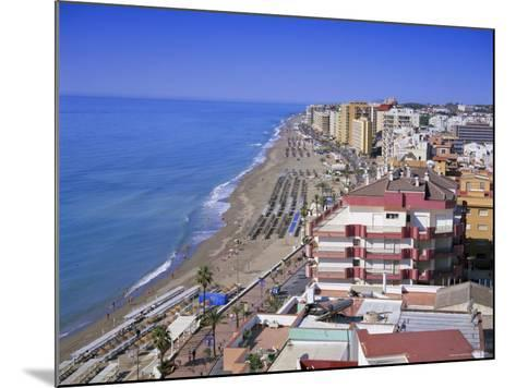 View Over the Seafront and Beach, Fuengirola, Costa Del Sol, Andalucia (Andalusia), Spain, Europe-Gavin Hellier-Mounted Photographic Print