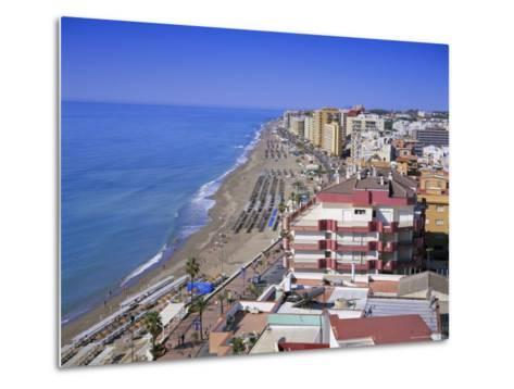 View Over the Seafront and Beach, Fuengirola, Costa Del Sol, Andalucia (Andalusia), Spain, Europe-Gavin Hellier-Metal Print