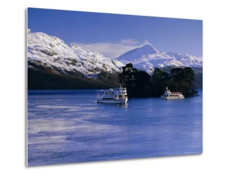 Loch Lomond in Winter, Argyll and Bute, Scotland, UK, Europe-Gavin Hellier-Metal Print