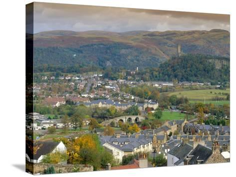 View Over City, Stirling, Scotland, UK, Europe-Gavin Hellier-Stretched Canvas Print