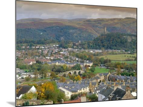 View Over City, Stirling, Scotland, UK, Europe-Gavin Hellier-Mounted Photographic Print