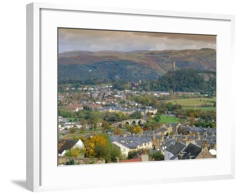 View Over City, Stirling, Scotland, UK, Europe-Gavin Hellier-Framed Art Print