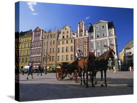 The Rynek (Town Square), Wroclaw, Silesia, Poland, Europe-Gavin Hellier-Stretched Canvas Print