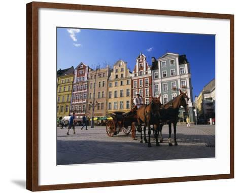 The Rynek (Town Square), Wroclaw, Silesia, Poland, Europe-Gavin Hellier-Framed Art Print