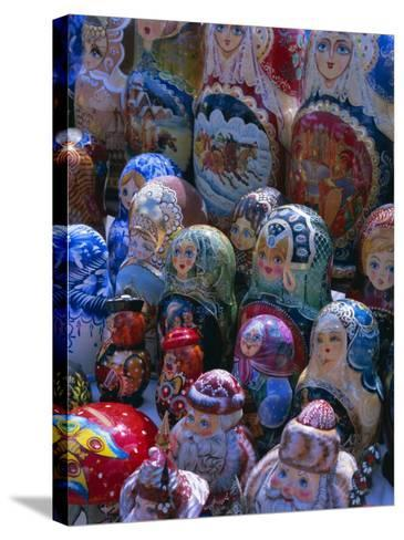 Russian Craft Dolls for Sale, Moscow, Russia, Europe-Gavin Hellier-Stretched Canvas Print