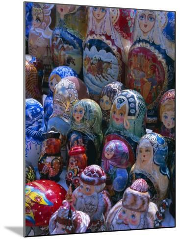 Russian Craft Dolls for Sale, Moscow, Russia, Europe-Gavin Hellier-Mounted Photographic Print