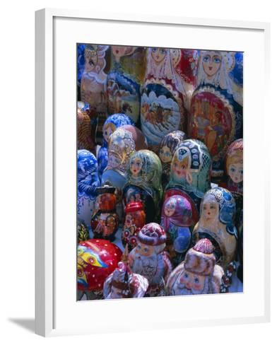 Russian Craft Dolls for Sale, Moscow, Russia, Europe-Gavin Hellier-Framed Art Print