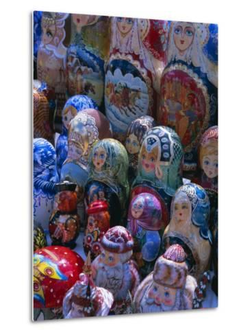 Russian Craft Dolls for Sale, Moscow, Russia, Europe-Gavin Hellier-Metal Print