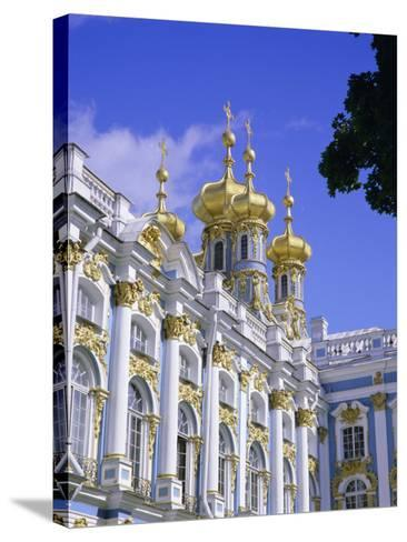 Baroque St. Catherine Palace, Pushkin, Near St. Petersburg, Russia, Europe-Gavin Hellier-Stretched Canvas Print