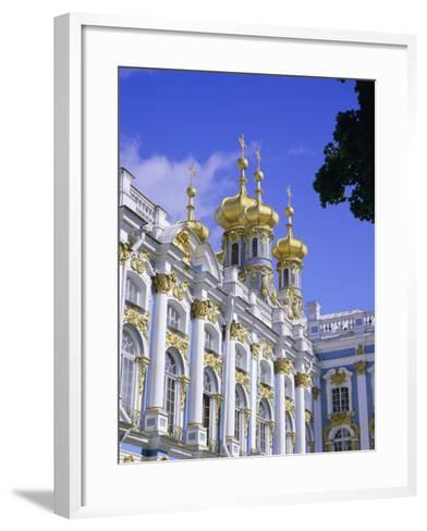 Baroque St. Catherine Palace, Pushkin, Near St. Petersburg, Russia, Europe-Gavin Hellier-Framed Art Print