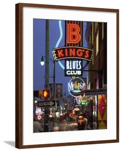 The Famous Beale Street at Night, Memphis, Tennessee, United States of America, North America-Gavin Hellier-Framed Art Print