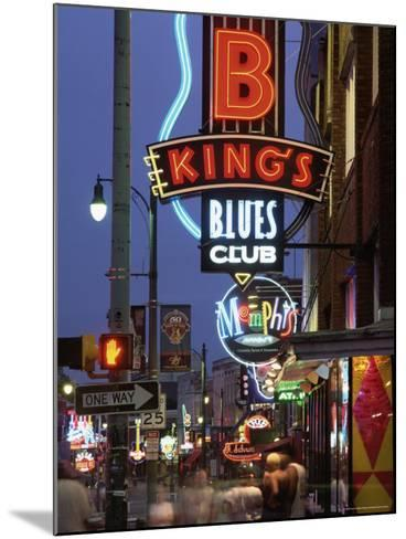 The Famous Beale Street at Night, Memphis, Tennessee, United States of America, North America-Gavin Hellier-Mounted Photographic Print