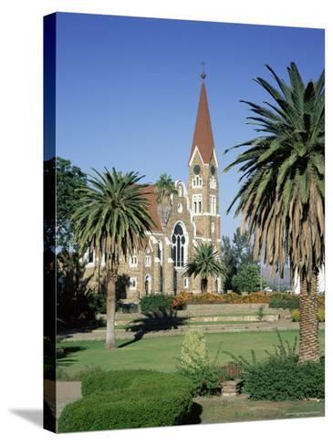 Christuskirche (Lutheran Christian Church) and Parliament Gardens, Windhoek, Namibia, Africa-Gavin Hellier-Stretched Canvas Print